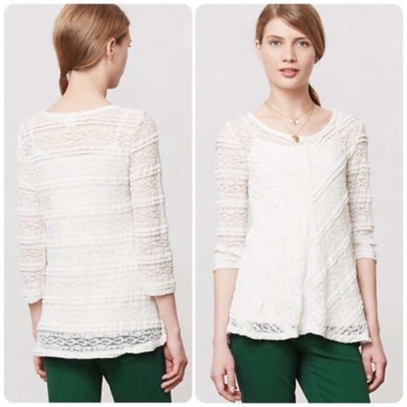 6be80e653b6517 ANTHROPOLOGIE COLETTE PULLOVER xs LILKA lace top. Anthropologie.  M_5ae380e7a44dbe55ee6ed007. M_5ae380e7a44dbe55ee6ed007